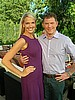 Monica Pedersen and Bobby Flay on HGTV